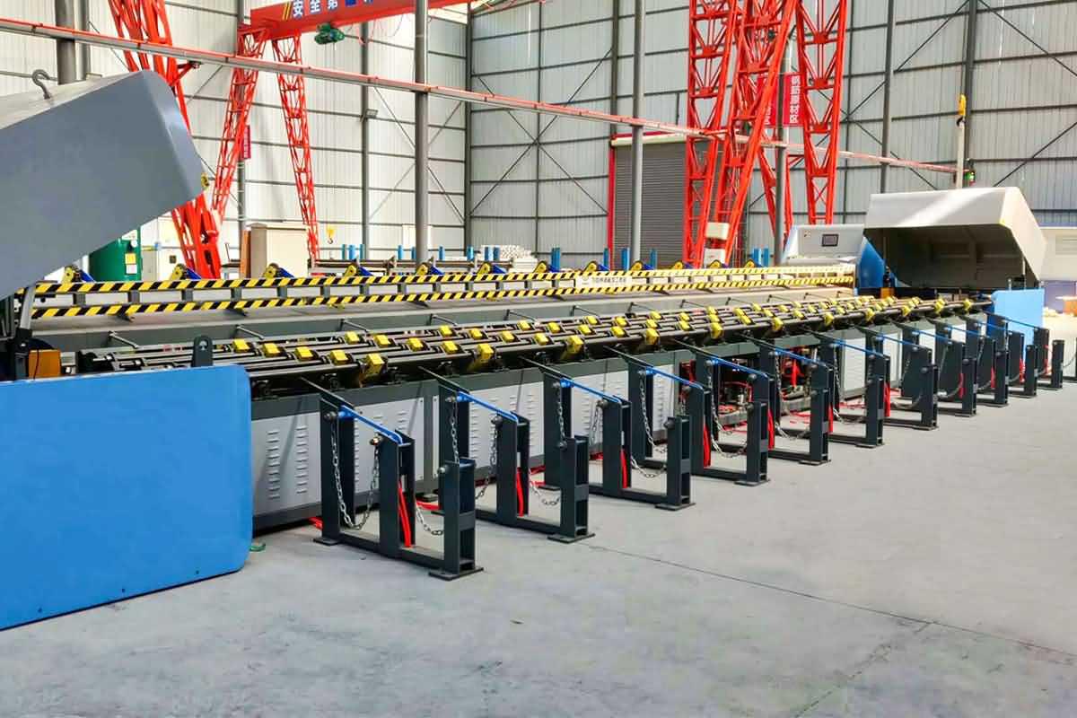 数控钢筋锯切镦粗套丝打磨生产线帮您节省成本!